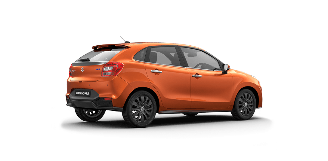Baleno RS Orange Car Back Side View