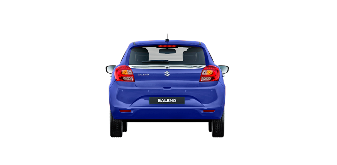 Baleno Blue car side views